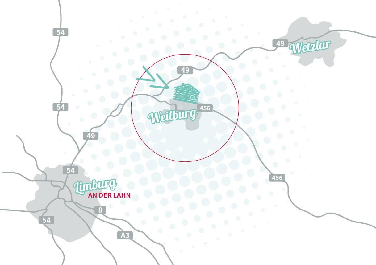 Der Standort des Lahnstadl in Weilburg
